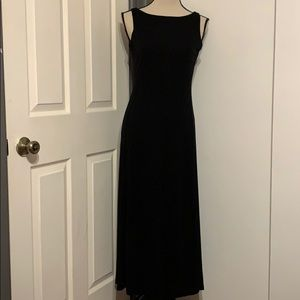 RALPH LAUREN SLEEVELESS BLACK MAXI DRESS
